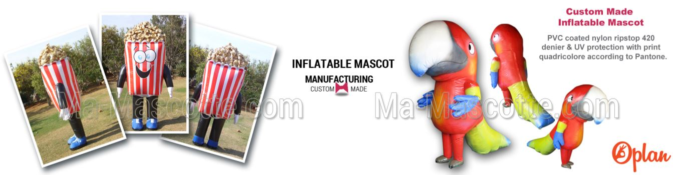 CREATION OF INFLATABLE CUSTOM MADE MASCOT COSTUMES