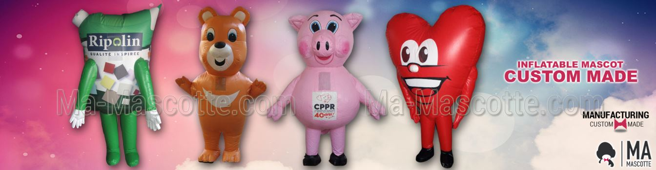 INFLATABLE CUSTOM MADE MASCOT COSTUMES MANUFACTURING