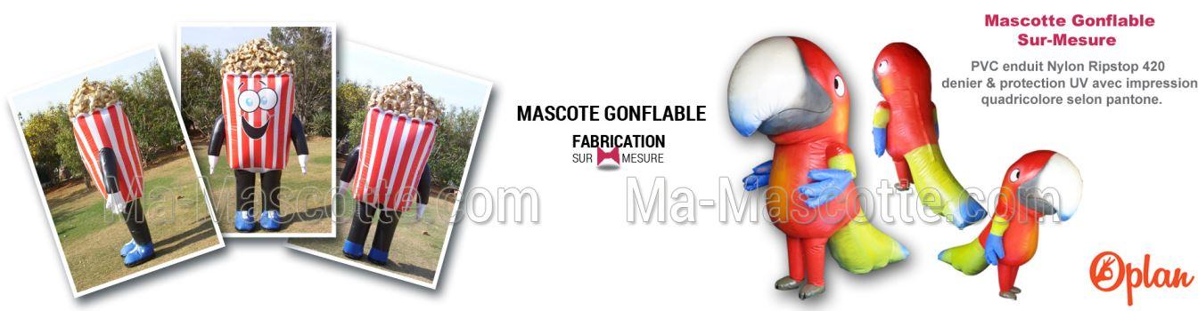 FABRICATION DE MASCOTTE GONFLABLE SUR MESURE