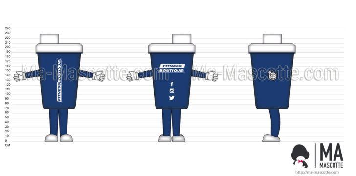 Création Graphique Sur Mesure shaker protéine (création graphique sur mesure).