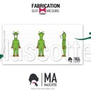 Custom Made giraffe GREEN GIRAFFE Mascot Costume (custom made animal mascot).