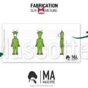 Fabrication Mascotte Sur Mesure girafe verte GREEN GIRAFFE (mascotte animal sur mesure).
