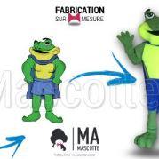 Fabrication Mascotte Sur Mesure grenouille DELL (mascotte animal sur mesure).