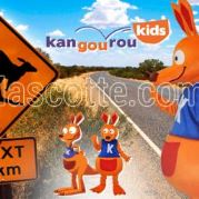 Custom Made kangaroo KANGOUROU KIDS Mascot Costume (custom made animal mascot).