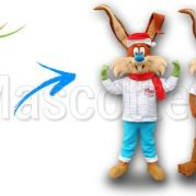 Custom Made rabbit HAZEBROUCK Mascot Costume (custom made animal mascot).