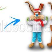Fabrication Mascotte Sur Mesure lapin HAZEBROUCK (mascotte animal sur mesure).