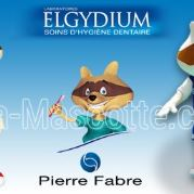 Custom Made raccoon ELGYDIUM PIERRE FABRE Mascot Costume (custom made animal mascot). Custom Made raccoon ELGYDIUM PIERRE FABRE Mascot Costume (custom made animal mascot).