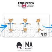 Fabrication Mascotte Sur Mesure souris garçon CHEZ GAEL (mascotte animal sur mesure).