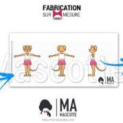 Fabrication Mascotte Sur Mesure souris fille CHEZ GAEL (mascotte animal sur mesure).