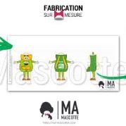 Fabrication Mascotte Sur Mesure sac à dos SITES ET PAYSAGES (mascotte objet sur mesure).