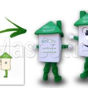 Custom Made house EFFICITY Mascot Costume (custom made object mascot).
