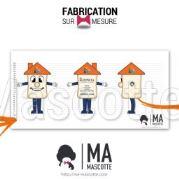 Fabrication Mascotte Sur Mesure maison (mascotte objet sur mesure).