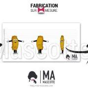 Fabrication Mascotte Sur Mesure A ROCA MONACO (mascotte personnage sur mesure).