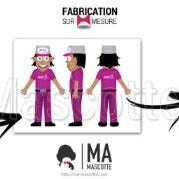 Fabrication Mascotte Sur Mesure livreur MULTIRESTO (mascotte personnage sur mesure).