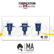 Fabrication Mascotte Sur Mesure shaker protéine FITNESS BOUTIQUE (mascotte objet sur mesure).