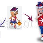 Custom Made basket HAUTE GARONNE Mascot Costume (custom made character mascot).