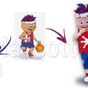 Fabrication Mascotte Sur Mesure basket HAUTE GARONNE (mascotte personnage sur mesure).