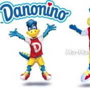 Custom Made dinosaure DANONINO DANONE Mascot Costume (custom made animal mascot).