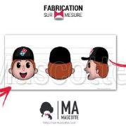 Fabrication Mascotte Sur Mesure personnage DOMINO'S PIZZA (mascotte personnage sur mesure).