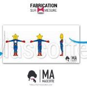 Fabrication Mascotte Sur Mesure étoile POLYTECH (mascotte personnage sur mesure).