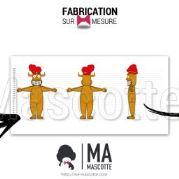 Fabrication Mascotte Sur Mesure totem LA RUE DES FADAS (mascotte objet sur mesure).