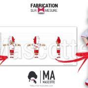 Fabrication Mascotte Sur Mesure supporter football FC SALAISE (mascotte personnage sur mesure).