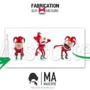 Fabrication Mascotte Sur Mesure clown JOKER JOKO (mascotte personnage sur mesure).
