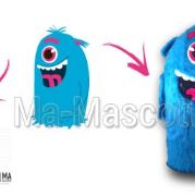 Custom Made blue monster MONSTROFUN Mascot Costume (custom made animal mascot).