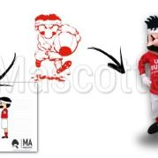 Custom Made rugby UAC Mascot Costume (custom made character mascot).