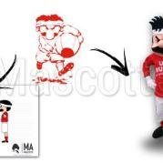 Fabrication Mascotte Sur Mesure rugby UAC (mascotte personnage sur mesure).