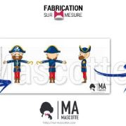Custom Made pirate FRANCELOC Mascot Costume (custom made character mascot).