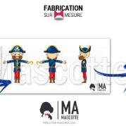 Fabrication Mascotte Sur Mesure pirate FRANCELOC (mascotte personnage sur mesure).