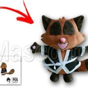 Custom Made Plush Toy racoon manga (custom made animal plush toy).
