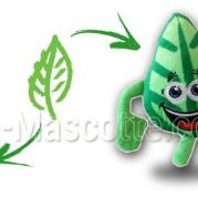 Custom Made Plush Toy leaf GAZ NATUREL CH (custom made objet plush toy).