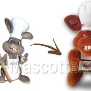 Custom Made Plush Toy rabbit MUSEE CHOCOLAT (custom made animal plush toy).