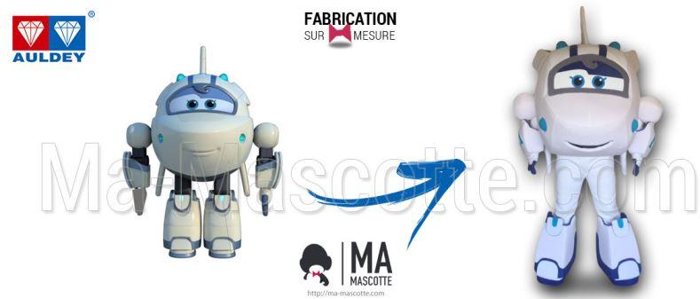 Fabrication Mascotte Sur Mesure avion SUPER WINGS AULDEY (mascotte objet sur mesure).