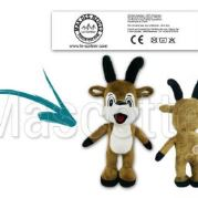 Custom Made Plush Toy reindeer LE CORBIER (custom made animal plush toy).