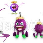 Custom Made Plush Toy cassis CASSISSIUM (custom made fruit plush toy).