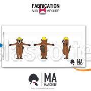Fabrication Mascotte Sur Mesure castor LECLERC (mascotte animal sur mesure).