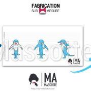 Fabrication Mascotte Sur Mesure dauphin NAIA (mascotte animal sur mesure).