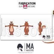 Fabrication Mascotte Sur Mesure ecureuil (mascotte animal sur mesure).