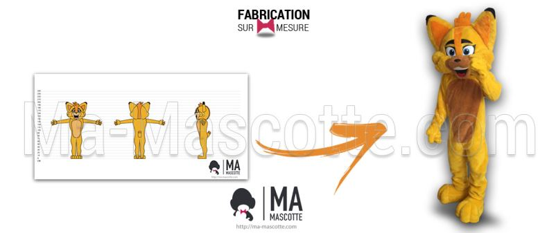 Fabrication Mascotte Sur Mesure lynx (mascotte animal sur mesure).