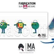 Custom Made smiley OPTICIENS MUTUALISTES Mascot Costume (custom made object mascot).