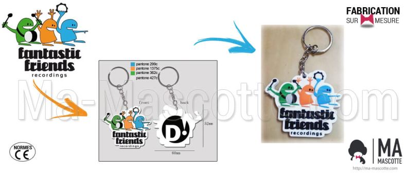 Custom Made PVC Keychain characters FANTASTIC FRIENDS (custom keychain).