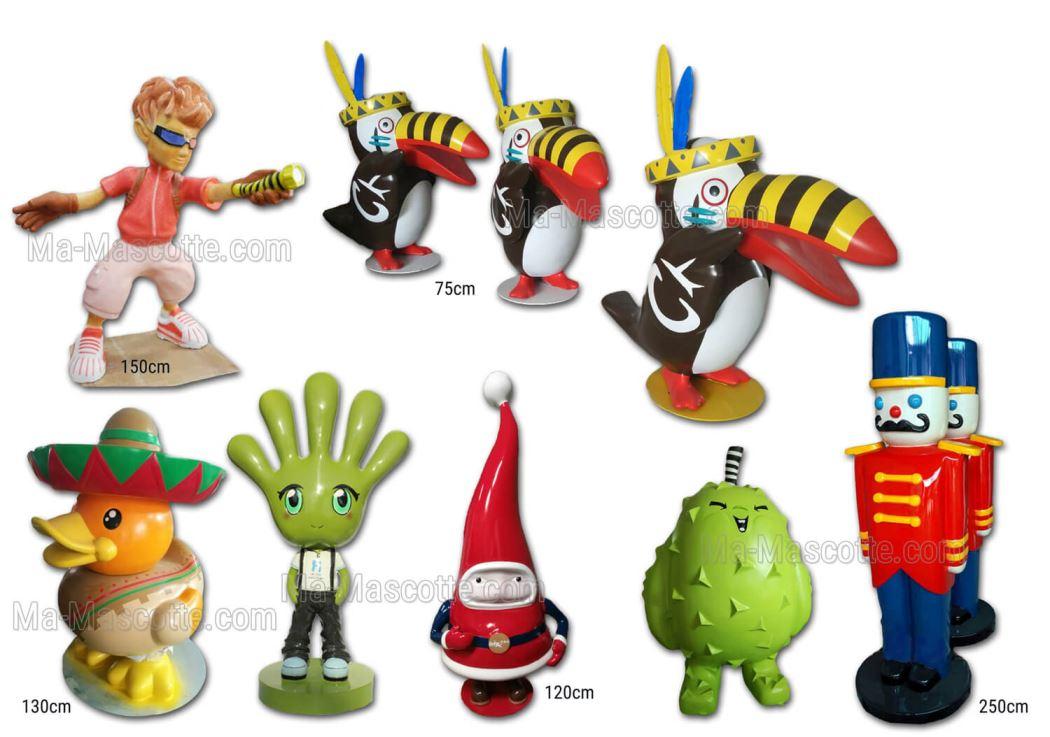 Custom Made Decoration Resin Sculpture (Giant statues, giant figurines, custom 3D sculpture) figurine.