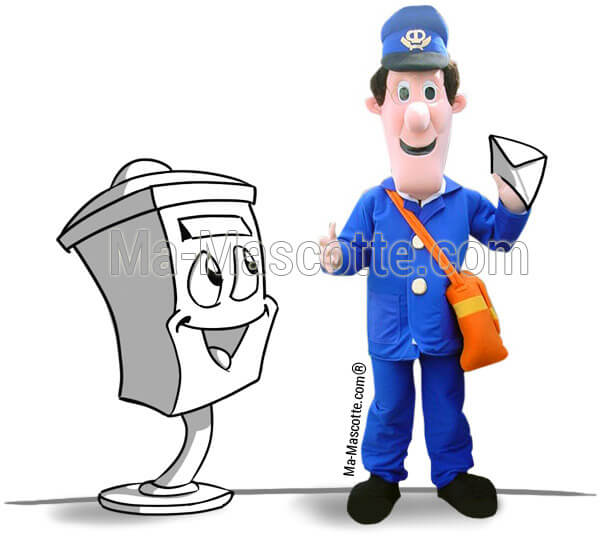 Custom Made postman Mascot Costume (custom made character mascot).
