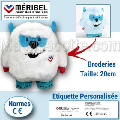 Fabrication Peluche Sur Mesure yeti YOONI (peluche animal sur mesure).