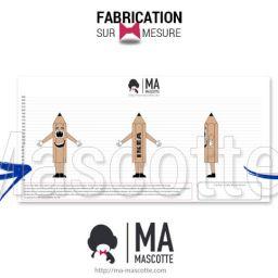 Fabrication Mascotte Sur Mesure crayon IKEA (mascotte objet sur mesure).