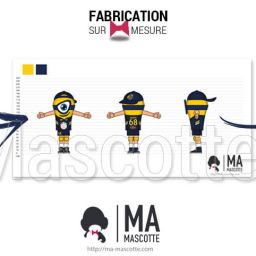 Custom Made minion VOLLEY-BALL NANTES Mascot Costume (custom made character mascot).