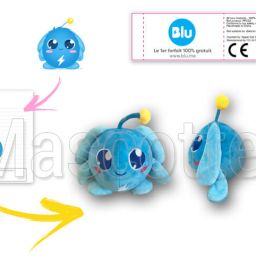 Custom Made Plush Toy blue ball PRIXTEL (custom made object plush toy).